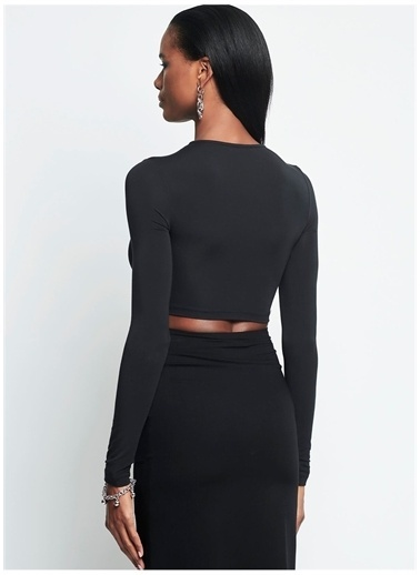 Iamnotbasic IAMNOTBASIC Kadın Siyah Pam Üst Siyah